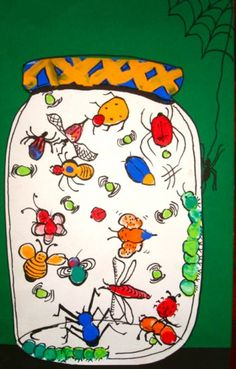 This is a variation of finger painting for kids.  And, because it has to do with bugs, the little one's love it!  I've done this project several times with kids in class and it always turns out very cool. This is also a great project to work on as...