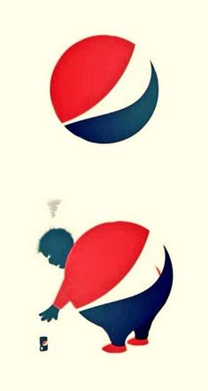 found how they changed the iconic Pepsi logo into a witty illustration quite funny, but also making a statement at Pepsi of being part in the reasons for obesity crisis Ads Creative, Creative Advertising, Advertising Design, Creative Design, Contextual Advertising, Logo Design Love, Ad Design, Branding, Ecommerce Webdesign