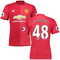 Will Keane Manchester United adidas 2016/17 Home Authentic Jersey - Red - $86.99
