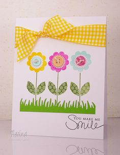 Smiling Spring by Nerina's Cards, via Flickr