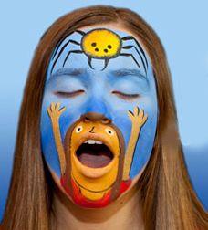 #Vertellen gecombineerd met schminken. http://agostinoarts.com/StoryFaces