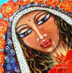 Akasha - She Who Carries The Memories - painting by Maya Telford. Fine art prints and posters for sale.  #mayatelford #spiritualart