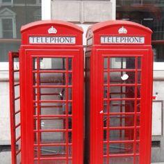 London phone booths.