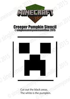 Next up in the Minecraft pumpkin series is a Creeper! Check out The Ender Dragon ! Halloween Pumpkin Stencils, Pumpkin Crafts, Halloween Pumpkins, Halloween Crafts, Pumpkin Ideas, Pumpkin Patterns, Halloween Tricks, Halloween 2016, Family Halloween