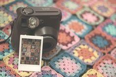 instax & granny squares