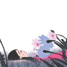 Wavering flowers in the wind gif. Pretty Gif, Beautiful Gif, Art And Illustration, Illustrations, Gifs Cute, Gif Bonito, Gif Lindos, Gif Collection, Cartoon Gifs