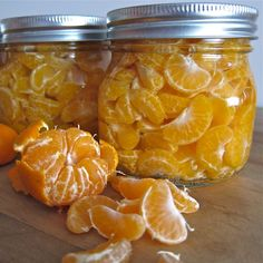 How to Can Mandarin Oranges.