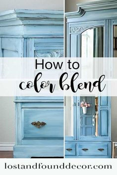 This tutorial teaches you how to color blend. #lostandfounddecor #paintitbeautiful #furnituremakeover