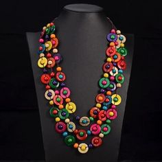 Cheap long necklace, Buy Quality long necklace women directly from China ethnic necklace Suppliers: UDDEIN Bohemia Ethnic Necklace & Pendant Multi Layer Beads Jewelry Vintage Statement Long Necklace Women Handmade Wood Jewelry Wooden Bead Necklaces, Unique Necklaces, Wooden Beads, Beautiful Necklaces, Wooden Jewelry, Braided Necklace, Beaded Statement Necklace, Bohemian Necklace, Tribal Necklace