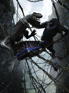 Universal Studios, King Kong Ride, Orlando, Florida...Boys would love this...gotta go back!