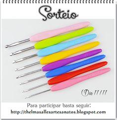 Thelma Salles ღ Artesanatos: Sorteio kit de agulhas ergonômicas