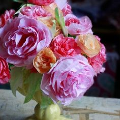 Coffee Filter Roses. Cheap and easier than you think!