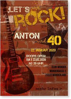 Einladungskarten Geburtstag, Rock'n Roll
