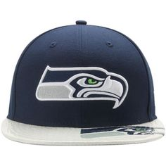 official photos 21479 a368d New Era 9Fifty Seattle Seahawks Double Logo Flat Snapback Hat S M   M L   NewEra9Fifty  SeattleSeahawks