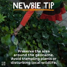 Preserve the area around the geocache. Avoid trampling plants or disturbing local wildlife. Geocaching Containers, Scavenger Hunt Games, Global Positioning System, Writing About Yourself, Merit Badge, Celebrity Travel, Kinds Of People, Outdoor Fun, Letting Go