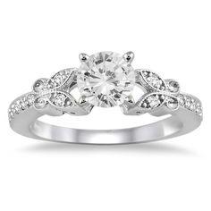 3/4 Carat Diamond Engagement Ring in 14K White Gold - RGF5064910.0