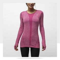 Nike Dri-FIT Knit Long-Sleeve Women's Running Shirt. I want this for my classes