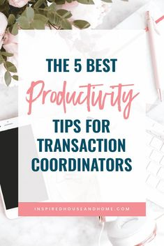 When you're a remote transaction coordinator, you need to use your time well. These productivity tips will help you be an effective remote worker! // Inspired House and Home Business Goals, Business Opportunities, Business Tips, Online Business, Business Marketing, Media Marketing, Digital Marketing, Own Your Own Business, Be Your Own Boss