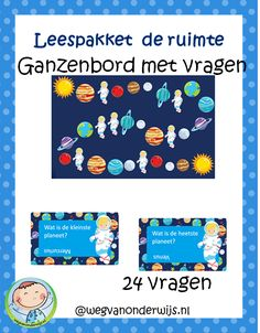 Ganzenbord met vragen over de planeten Outer Space Crafts, Out Of This World, Classroom, Teaching, Scouting, Space, Astronauts, Geography, Outer Space