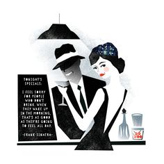"Darling Clementine - Illustration - Agent Molly & Co  ""I feel sorry for people who don't drink....."""