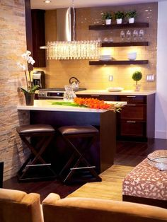 kitchen idea. love the bar