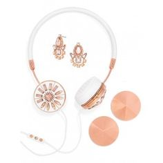 Gorgeous headphones with matching earrings? Yes, please!