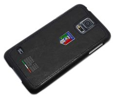 Federazione Italiana Giuoco Calcio leather cover for Samsung Galaxy S5, #black - Funda para Galaxy S5 colección FIGC