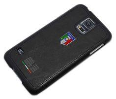 Federazione Italiana Giuoco Calcio leather cover for Samsung Galaxy S5, #black - Funda para Galaxy S5 colección FIGC