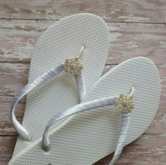 Hey, I found this really awesome Etsy listing at https://www.etsy.com/listing/224347182/wedding-bride-flip-flops-you-choose