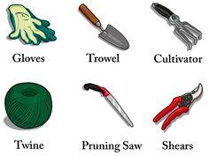 Garden Tools Names Common House Plants, Landscaping Tools, Garden Tool Set, Unique House Design, Garden Trowel, Beautiful Tattoos, Twine, Garden Plants, Landscape