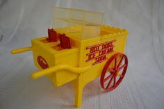 Mom's Ideal toy hotdog cart - 40s Hot Dog Cart, Ideal Toys, Wheelbarrow, Vintage Toys, Hot Dogs, Garden Tools, Depression, Old Things, Games