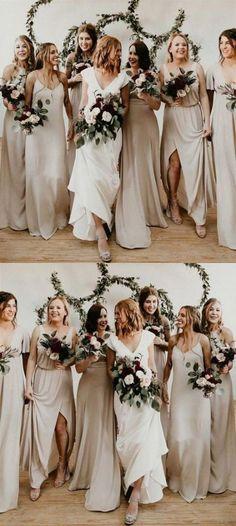 Mar 10, 2020 - Super wedding colors schemes gold champagne bridesmaid dresses 29+ ideas #wedding