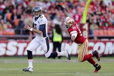 San Francisco 49ers Corey Lemonier, Denver Broncos Brock Osweiler