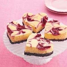 White chocolate rasberry cheesecake hearts