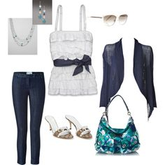 Loved this white top so I picked items to go around it. Cute! polyvore