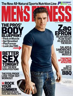 Zac Efron Is Hotter Than Ever in 'Men's Fitness' Magazine, Jokes He's 'Still That F**king Kid From High School Musical' - chrySSa fitnes Fitness Man, Fitness Diet, Fitness Goals, Mens Fitness Model, High School Musical, Rachel Mcadams, Dwayne Johnson, Zac Efron 2016, Zac Efron Baywatch
