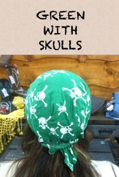 Green with Skulls