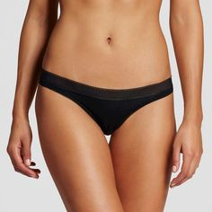 Women's Modal Thong Ebony XL, Black