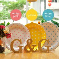 Ggpartystore #party #paperplate #decoration #polkadot #pretty #cute   Www.ggpartystore.com
