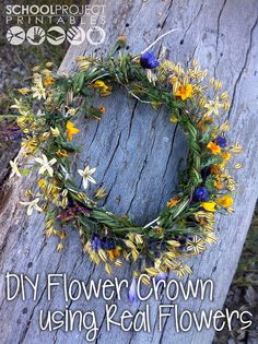 Tutorial showing how to make a flower crown using only real flowers. No fake flowers, no wire, just real flowers braided together.