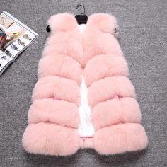 The new Fox Fur Vest Zhongchang leather women coat diamond fox fur vest