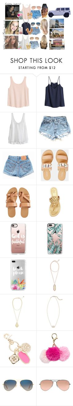 """""""Lainey // 5-7-17 // Day With My Girls 💗"""" by dream-families ❤ liked on Polyvore featuring H&M, Calypso St. Barth, Levi's, Wrangler, Carvela, KYMA, Tory Burch, Casetify, Kendra Scott and Carriere"""