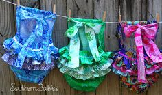 Stunning sun suit bubble by Southern Babies in glorious Jennifer Paganelli fabrics! My favourite is the Crazy Love one :)