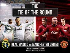 Real Madrid vs Manchester United sera el partido mas seguido de Octavos de Final