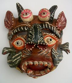 Mexican Folk Art Clask Mask from Ocumicho on Etsy, Sold