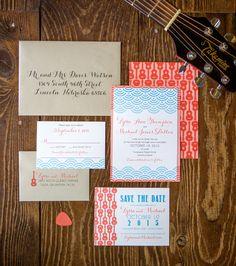 Invitation suite by Paper Girl. Photo by Tammy Odell Photography. #WeddingInvitations #OklahomaWedding