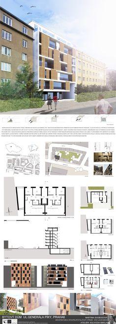 Studentský projekt. LS 2013/2014. FSv ČVUT v Praze. Ideas Para, Multi Story Building, Floor Plans, Architecture, Projects, House, Arquitetura, Buildings, Haus