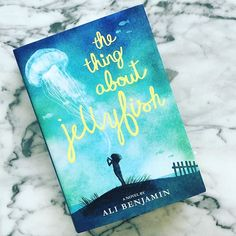 #Bookclub: #TheThingAboutJellyfish.... This book is an incredible glimpse into the interior world of a 12 year old girl who has lost her best friend. The writing is stunning and so magical.  I'm so pleased it's been nominated for the National Book Award...and my company @pacificstandardfilms is making this amazing novel into a movie! #MustRead #HappySaturday #RWBookclub