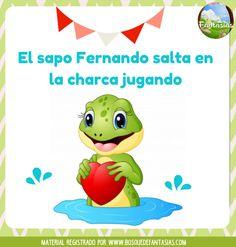 Fichas de RIMAS CORTAS para niños de infantil y primaria Spanish Lessons For Kids, Spanish Songs, Dual Language, First Grade, Preschool, Geek Stuff, Teaching, Education, Math