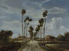 Hobbema, Meindert - L'avenue de Middelharnis - National Gallery, Londres